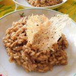 Risotto aux cèpes et tuile de parmesan